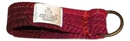 Harris Tweed Key Ring (Pink Heather Plaid) - $12.87