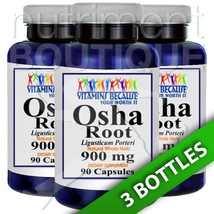Osha Root 900mg 3X90 Caps Vitamins Because - $35.59