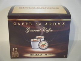 Caffe de Aroma Breakfast Blend Coffee 12 Single Serve K-Cups Free Shipping - $9.99