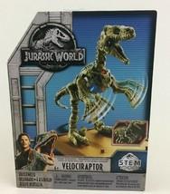 Jurassic World Fallen Kingdom Fossil Striker Velociraptor Dinosaur Build... - $13.32