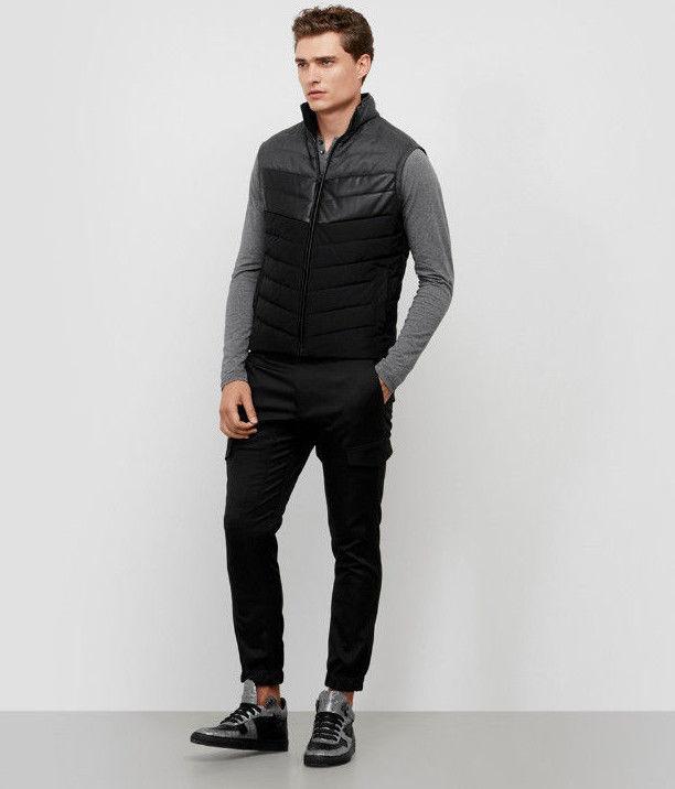 REACTION KENNETH COLE Color Block Puffer Vest, Black Combo, Size XL image 3