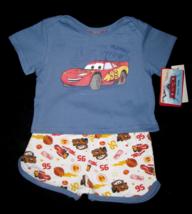 BOYS 6-9 MONTHS Disney Pixar Cars Lightning McQueen Blue 2-Pc PLAYSET - $5.99