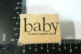 Baby Rubber Stamp Stampin Up 2002 New Arrival Congratulations Family Chi... - $3.00