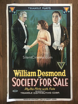 Borzage's SOCIETY FOR SALE (1918) Gloria Swanson's 1st Feature Film Tria... - $1,250.00