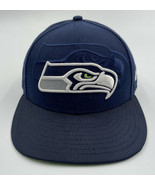 Seattle Seahawks New Era 5950 Fitted Hat Size 7 1/2 Blue NFL  - $14.84