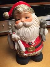 Vintage Santa Claus Bank Figurine Vintage Homeco  Porcelain w Plug 5610 - $7.04