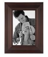 TWO Malden Linear Wood 4-by-6-Inch Picture Frame Walnut Dark Brown Walnu... - $29.00