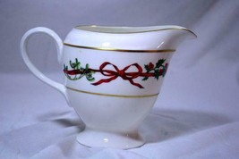 Royal Worcester 1987 Holly Ribbons 8 Oz. Creamer #A10 - $62.36