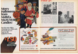 1973 Mattel Toys Mars Candy HALLOWEEN Trick or Treat & Toys Print Ad - $9.99