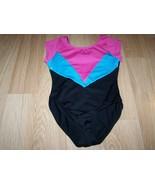 Size XS 4-5 Freestyle Danskin Dance Gymnastics Leotard Black Pink Turquo... - $18.00