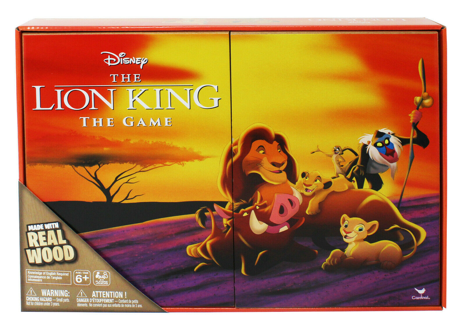 Primary image for NEW SEALED Retro 90s Disney Lion King The Game Deluxe Wooden Edition