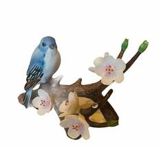 Andrea Sadek Bluebird Figurine Japan porcelain flower 1986 vtg 7669 lark... - $48.33