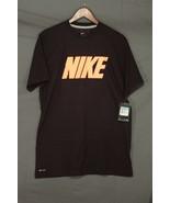 NEW Men's Nike Dri-Fit Vintage Logo Perform Training T-Shirt Burgundy 50... - $9.84
