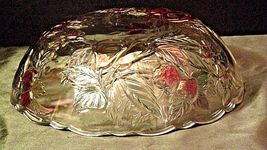 Heavy Etched Cut Glass  Punch Bowl AA20-CD0056 Vintage image 3