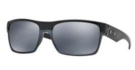 New Oakley TwoFace Polished Black w/Black Iridium Polarized 9189-01 - $140.09