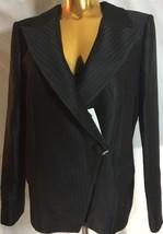 New $2,995 Giorgio Armani Italy Women Black One Button Blazer 46 - $752.39