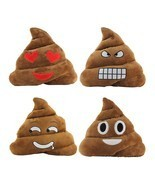 StylesILove 14-inch Emoji Smiley Poop Plush Stuffed Toy Throw Pillow - $16.16 CAD