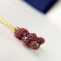 Swarovski Teddy 3D Pendant, Red, RHS Crystal necklace gift with box image 5