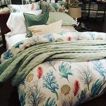 Pottery Barn Del Mar Duvet Cover Set Blue Queen 2 Standard Shams Coastal... - $138.85