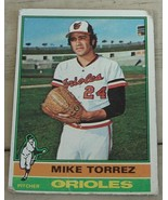Mike Torrez, Orioles, 1976 #25 Topps Card, VG COND - $0.99