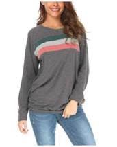 Qearal Women's Raglan Long Sleeve Loose Casual Pullover Tunic Sweatshirt... - $11.29