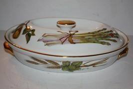 """Royal Worcester England 1961Oval Porcelain """"Evesham"""" Casserole Baking Se... - $39.43"""