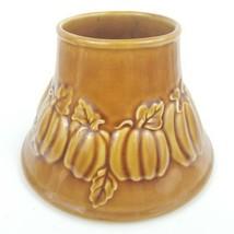Yankee Candle Pumpkin Fall Leaves Ceramic Large Jar Candle Shade - $25.00