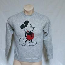 VTG Disney Mickey Mouse Sweatshirt Tri Blend Heather Grey Shirt Characte... - $69.99
