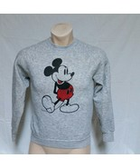 VTG Disney Mickey Mouse Sweatshirt Tri Blend Heather Grey Shirt Characte... - $69.99