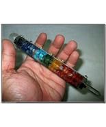 """Jet New Orgone 7.5"""" Chakra Layer Stick Healing Wand Balancing Unique Ene... - $49.39"""
