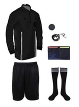 11b30d79ef9 NEW! 2018 Pro Soccer Referee Shirt Full Sleeve 7 Piece (Black) -  49.99