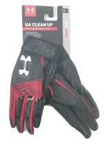 Under Armour Youth Batting Gloves Y/LRG Black/Red New - $15.43