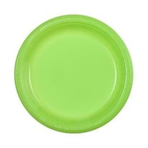 "9"" Lime Green Plastic Plate - 10 Count - €2,24 EUR"