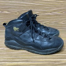 Nike Air Jordan 10 Retro NYC Black/Gold Boys Basketball Shoes 310806-012... - $29.63