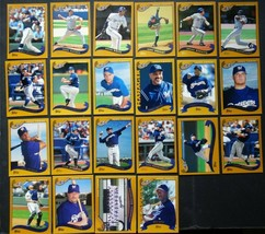 2002 Topps Series 1 & 2 Milwaukee Brewers Team Set of 22 Baseball Cards  - $4.25