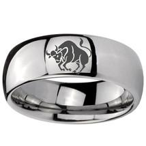 10mm Classic Mirror Dome Taurus Zodiac Horoscope Tungsten Carbide Ring S... - $38.99