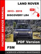 Land Rover 2013 2014 2015 Discovery Diesel Service Repair Workshop Fsm Manual - $14.95