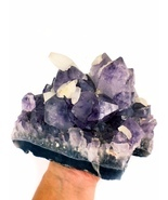 Amethyst with Calcite Spectacular Crystal Specimen - $335.00