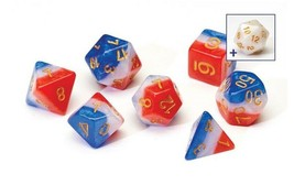 SIRIUS SEMI-TRANSLUCENT RED WHITE & BLUE 7 DIE SET free D20 and tube SDZ... - $18.47