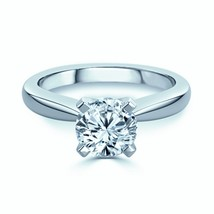 1.00 Ct D/IF Lab Round Diamond Solitaire Engagement Ring - $40.96