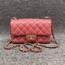 100% AUTH Chanel Pink Quilted Caviar Large Mini 20CM Flap Bag GHW - $3,688.00