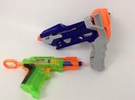 LOT (2) Hasbro Nerf Guns Slingstrike & Glow Shot Blasters w/ Darts - $16.88
