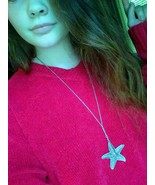Silver Starfish Pendant Necklace - $10.00