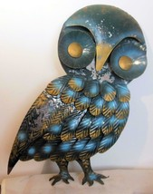 "Vintage Metal Owl Wall Sculpture 16 x 13"" Hong Kong Facing Right - $22.00"