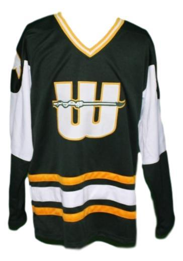 Gordie howe  9 new england whalers retro hockey jersey black   1