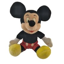WDW Souvenir Mickey Mouse Wind Up Musical Plush Plays Mickey Mouse Club ... - $27.71