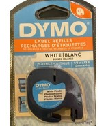 New Dymo LetraTag QTY2, 1/2 in x 13 ft. White Plastic Refill Cartridge 9... - $9.40