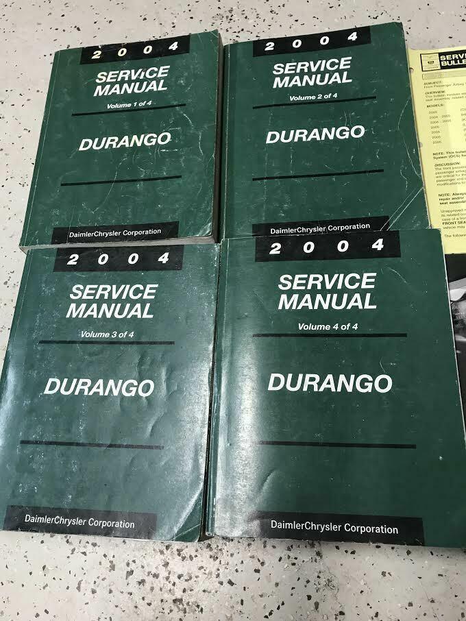 2004 DODGE DURANGO Service Repair Shop Manual Set W Data Book + Bulletin Page