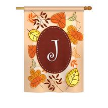 "Autumn J Initial - 28"" x 40"" Impressions House Flag - H130036 - $36.87"