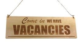 Vacancies, No Vacancies Wood Sign - for B&B Guesthouses Hotels Double Sided - $15.00